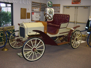 Center Stage at the museum is the 1905 Mier car designed and built by local resident, Sheldon Harkless. Mr. Harkless sold the car's design rights to the Mier Carriage Co. of Ligonier. The company produced only about 10 cars and this is one of the two known survivors.